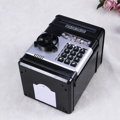 Electronic Piggy Bank ATM Password Money Coin Automatic Safe Saving Box For Kids 8