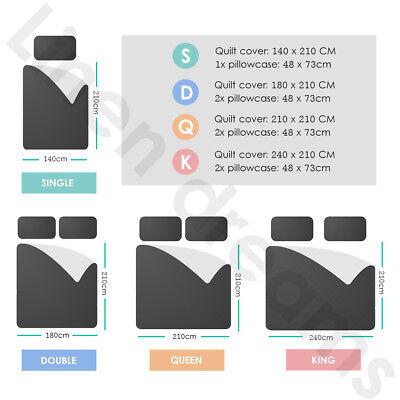 2018 New All Size Bed Doona Quilt Duvet Cover Set 100% Cotton Super King Bedding