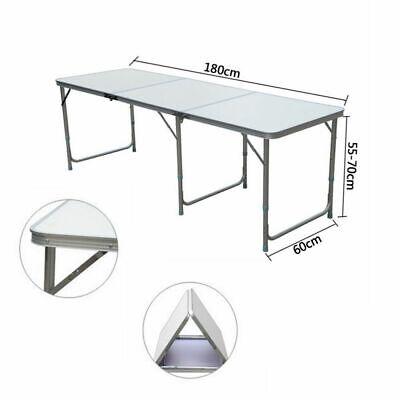 Heavy Duty Folding Table Portable Picnic Camping Garden Party BBQ Indoor Outdoor 9