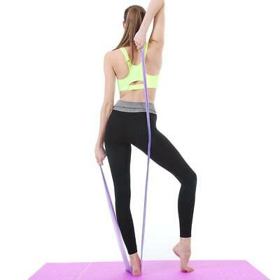 1.5m Elastic Yoga Stretch Resistance Bands Exercise Fitness Band Theraband 6