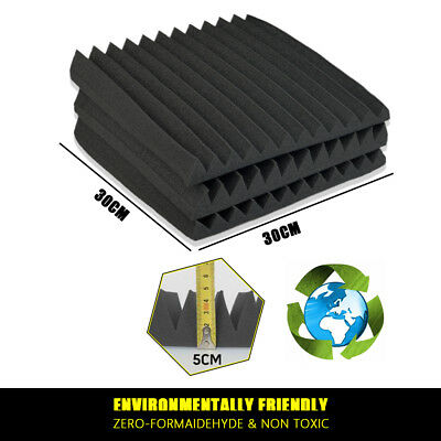 20 40 60PCS Studio Acoustic Foam Sound Absorbtion Proofing Panel Wedge 30/50CM 3