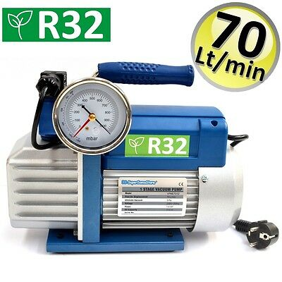 3S POMPA del VUOTO MONOSTADIO 70 LT min PER GAS R32 R1234YF CLIMATIZZATORE NUOVA 2
