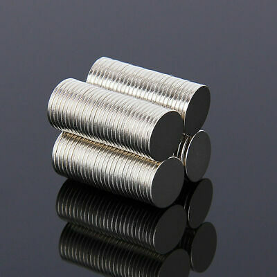 100pcs Neodymium Magnets Rare Earth NdFeB N35 Disk Ring Strong Craft 10mm x 1mm 7