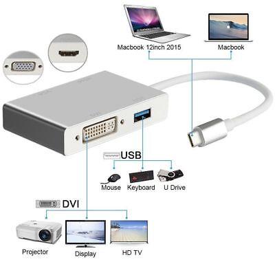 USB-C to HDMI / DVI / VGA External Graphics Video Card Adapter USB 3.0 4K x 2K 7