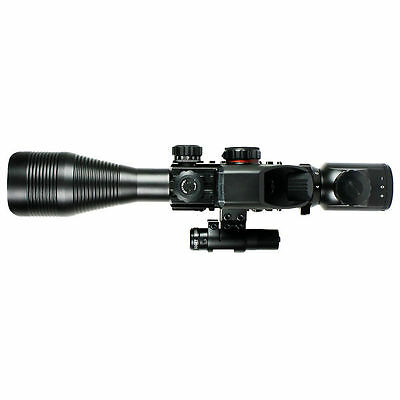 4-12X50 EG Tactical Rifle Scope with Holographic 4 Reticle Sight & Red Laser JG8 3
