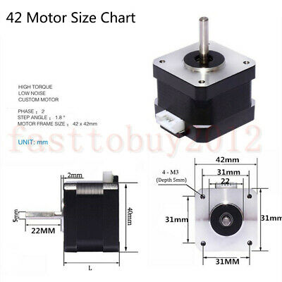 Nema 23 Stepper Motor TB6600 Driver 4-wires 8mm Shaft for DIY CNC Router Mill 4