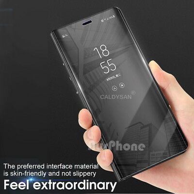 Slim Mirror Luxury Case Flip Cover For Samsung Galaxy S10 Note 9 S9 S8 Plus S10e 3