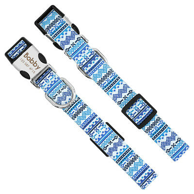 Unique Soft Nylon Personalized Dog Collar for Small Large Dogs Engrave Nameplate 6