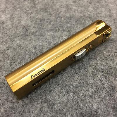 Lot 5pcs  Windproof  Jet  Torch Lock Flame Cigar Cigarette Flint Lighter Gold 3