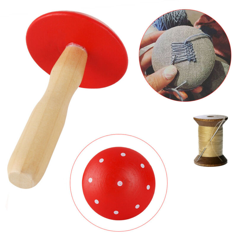 Darning mushroom patching tool Socks Hole Sewing Solid Wooden Mending New