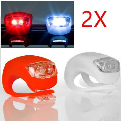 2x LED luz de bicicleta luz delantera luz trasera luces 2