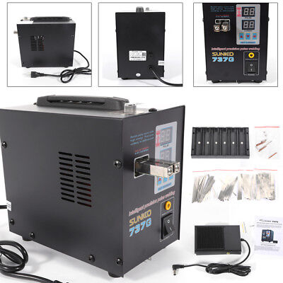 110V  Hand Held SUNKKO 737G Battery Spot Welder with Pulse & Current Display USA 4