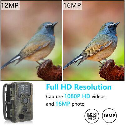 UK 16MP Hunting Trail Camera HD 1080P Wildlife Scouting Cam Night Vision IP65 4