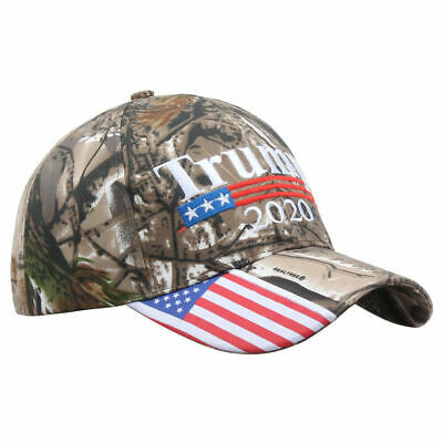 Donald Trump 2020 MAGA Embroidery Hat Keep Make America Great Again Cap USA Camo 2