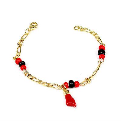 caa73e368 1 of 5 18K Gold Filled Azabache Bracelet for Baby 5,5