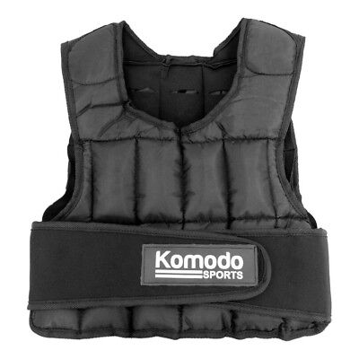 Komodo Weighted Weight Vest Jacket Adjustable Strength Training Running Gym Fit