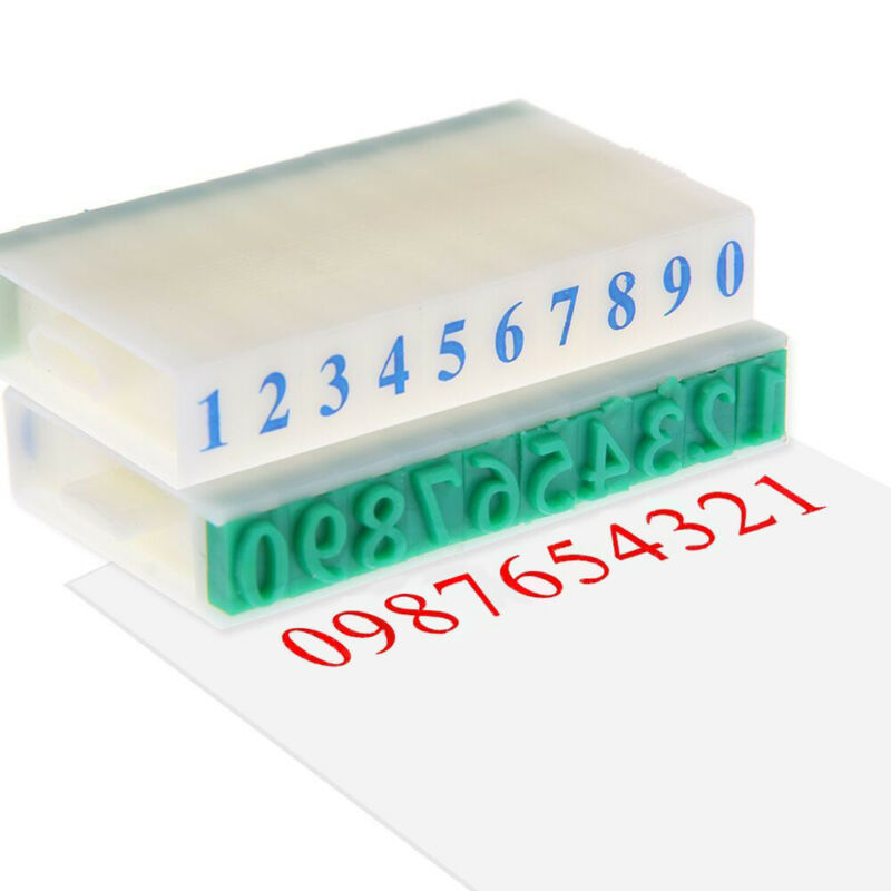 3 Type DIY English Alphabet Letter Number Rubber Stamp Free Combination Craft 5
