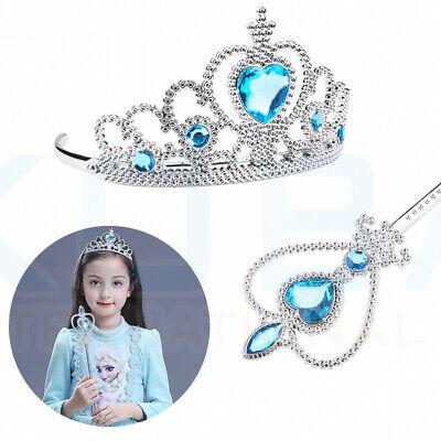 Vicloon Ice Princess Elsa Accessories Set  Tiara Crown and Magic Wand Girls Gift 8