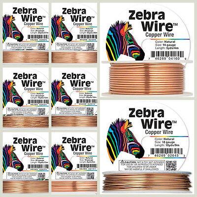 Zebra Wire Gold/Silver/Copper Round spool 12,14, 16, 18, 20, 22, 24, 26 28Gauge 3
