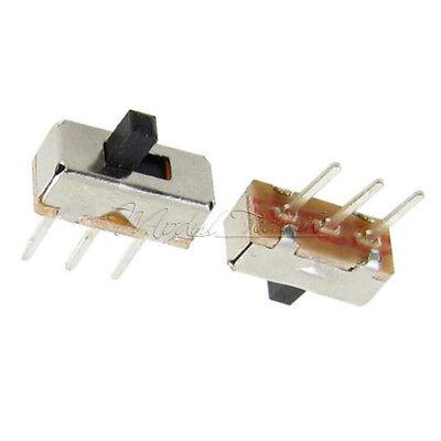 20PCS 3Pin SS12D00G3 2 Position SPDT 1P2T PCB Panel Mini Vertical Slide Switch 3