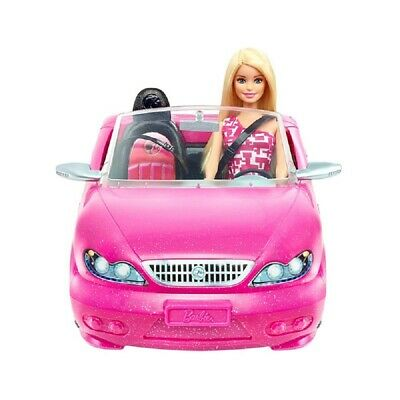 Barbie Convertible Pink Car and Doll   Glam Doll Set   Official Barbie 3