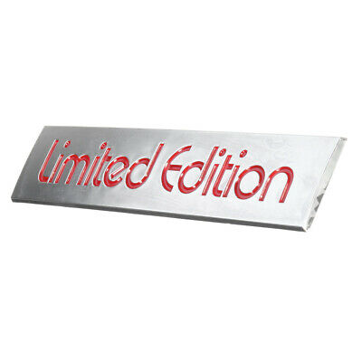 3D Red Limited Edition Logo Emblem Badge Metal Sticker Decal Car Accessories 3