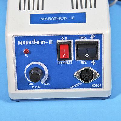 Dental Lab Marathon Micro Motor 35K rpm N3 w/ Straight Contra Angle Handpiece US 7
