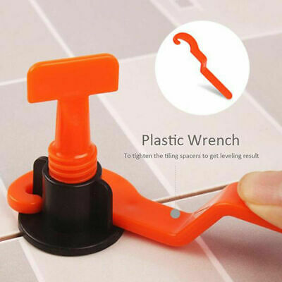 100x Cross Tile Leveling Hand Locator Tool Reusable System Floor Spacer Clip US