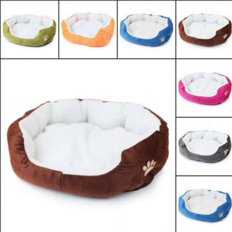 Deluxe Warm Soft Washable Dog Cat Pet Warm Basket Bed Cushion with Fleece Lining 3