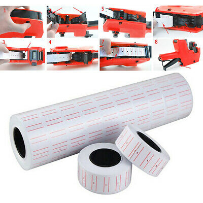 10 Rolls Price Pricing Label Paper Tag Tagging For MX-EOS5500 Labeller Gun 3