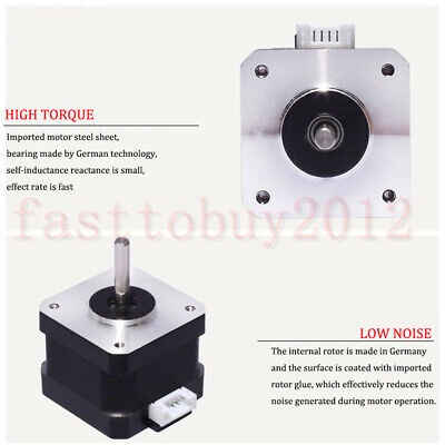 Nema 23 Stepper Motor TB6600 Driver 4-wires 8mm Shaft for DIY CNC Router Mill 6