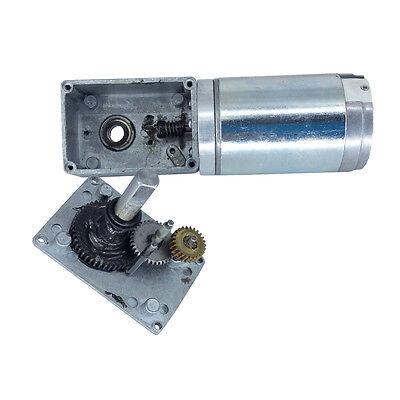 12 Volt 80rpm Electric Worm Geared Motor BBQ Robot Reversible Gearbox Motor