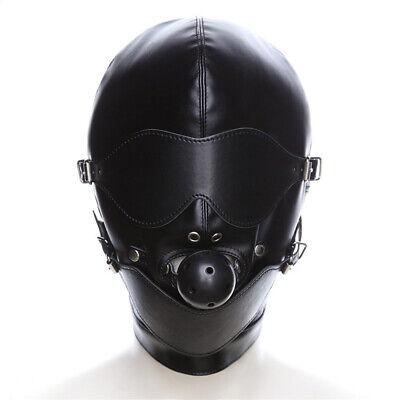 Sex Maske Fetisch Leder Mund Slave Ball Gag Erotische Produkt Spielzeug Bondage 3