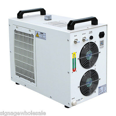 S&A 110V CW-5200DH Water Chiller for One 8KW Spindle/One 130-150W CO2 LaserTube