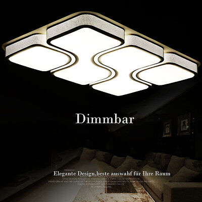 24w 80w design led deckenlampe dimmbar led deckenleuchte wohnzimmer lampe mit fb eur 44 99. Black Bedroom Furniture Sets. Home Design Ideas