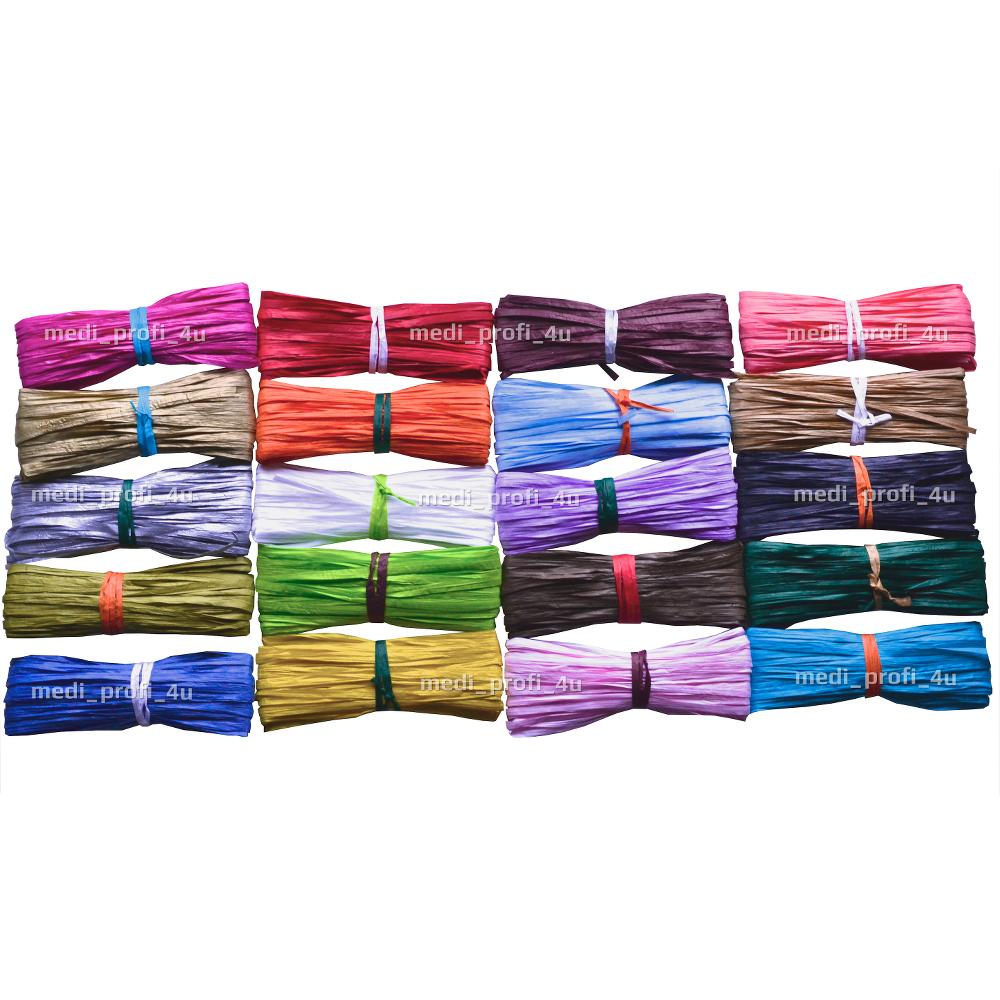 7mm X 20m EFCO Coral Synthetic Raffia Paper Ribbon Flowers Craft Scrapbook