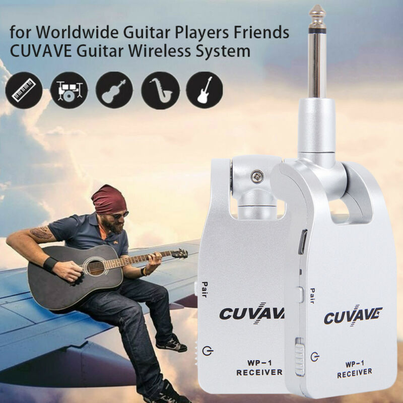 CUVAVE 2.4G Wireless Guitar System Transmitter & Receiver for Electronic Guitar; 2