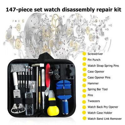 Uhrenwerkzeug 147tlg Set Uhrmacherwerkzeug Uhr Werkzeug Reparatur Gehäuse BE DHL 2