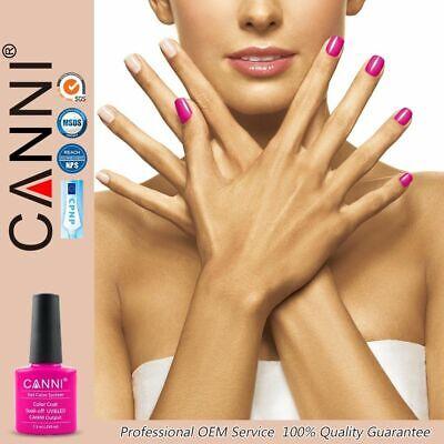CANNI Nail Gel Polish Colour Coat 7.3ml Soak Off UV / LED Metallic Glittered UK 12