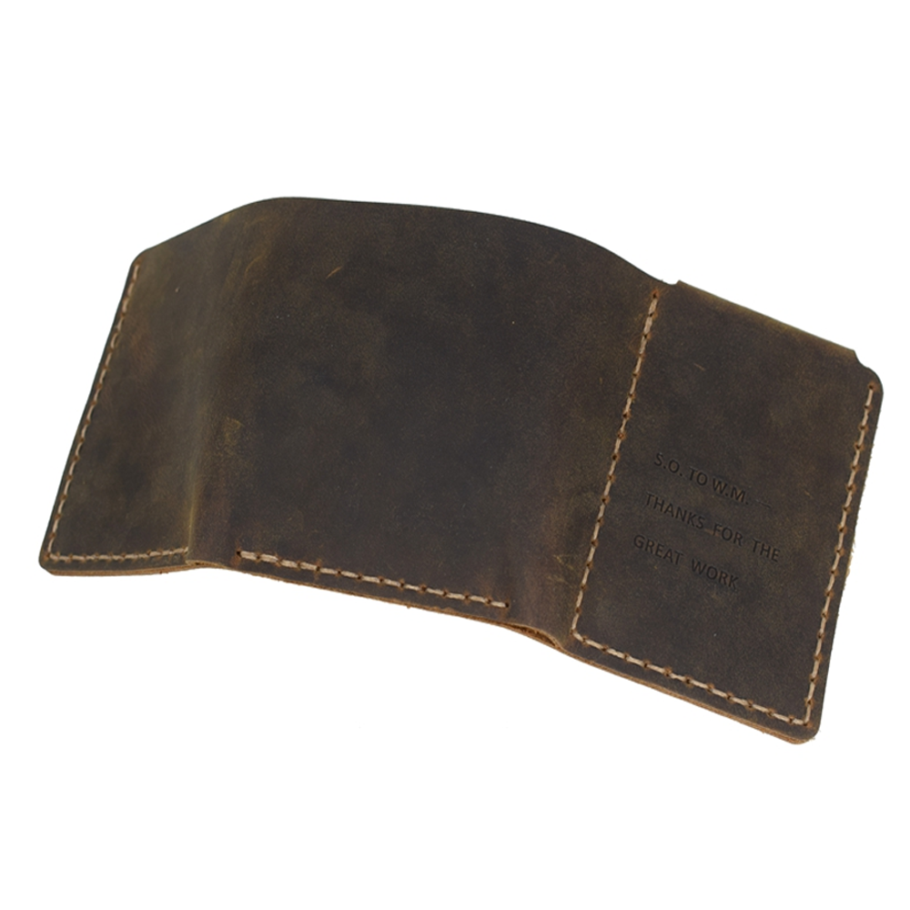 The Secret Life of Walter Mitty Handmade Genuine Leather Men's Bifold Wallet 2