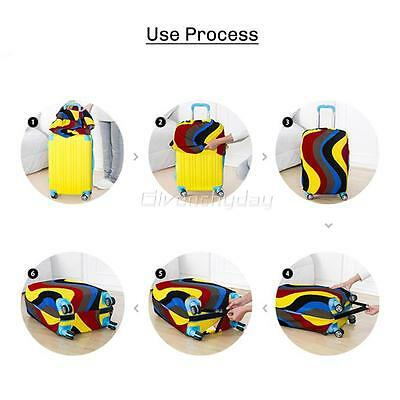 """20-28"""" Luggage Protector Elastic Colorful Cover Bags Dustproof Anti Scratch New 12"""