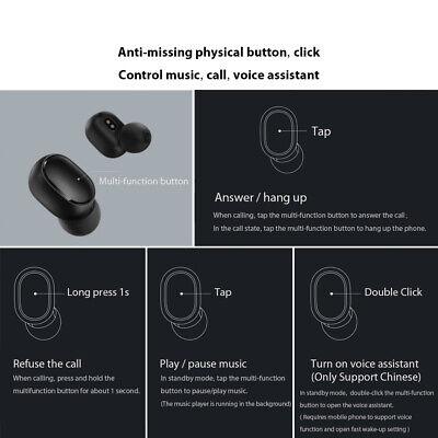 Wireless Bluetooth Headphones TWS Earbuds Earphones Mic for Xiaomi Redmi Airdots 2