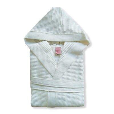 Accappatoio uomo/donna con cappuccio nido d'ape TOP QUALITY 100% cotone mod.CLUB