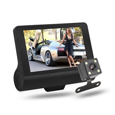 "1080P 4""Car DVR Dual Lens Dash Cam Front and G-sensor Rear Video Recorder Camera 5"