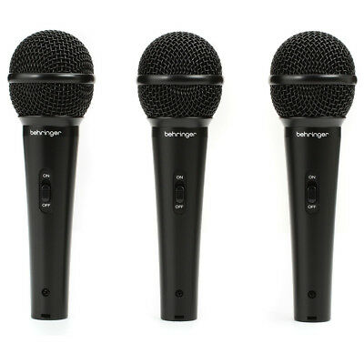 Behringer XM1800S 3 Dynamic Cardioid Vocal and Instrument Microphones (Set of 3) 2