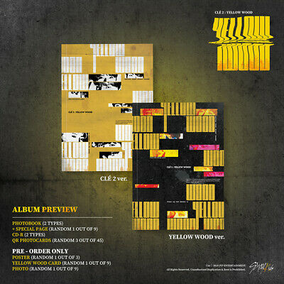 STRAY KIDS - Clé 2:YELLOW WOOD CD+PO Benefit+Poster+Free Store Gift+Tracking no. 2
