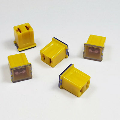 J CASE JCASE FUSE 60 AMP 60A YELLOW LOW PROFILE FEMALE PUSH IN CARTRIDGE FUSES