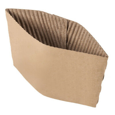 100 ct. 10 - 20 Oz. Eco Disposable Brown Coffee Cup Sleeves / Jacket / Clutch 3