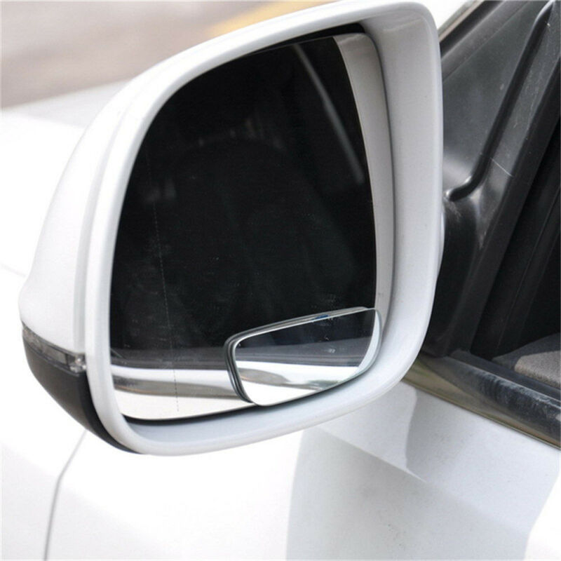 2Pcs 360° Wide Angle Convex Rear Side View Blind Spot Mirror Universal Car Auto