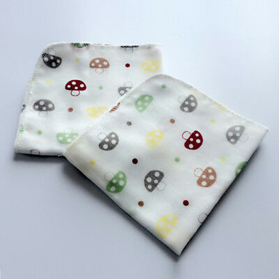 10Pcs Baby Newborn Gauze Muslin Square 100% Cotton Bath Wash Handkerchief Towels 5